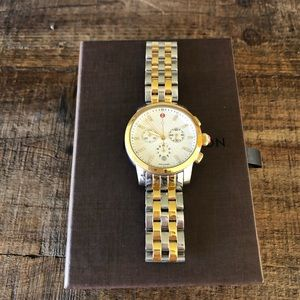 Beautiful Michele two tone uptown watch. Authentic